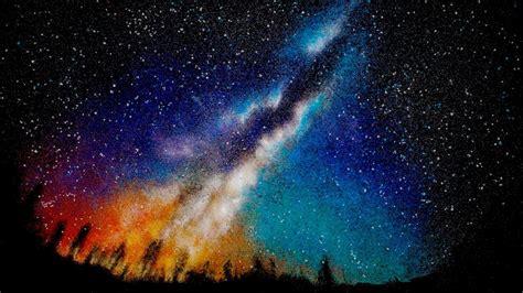 Milky Way Salt Art Youtube