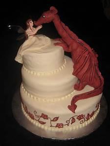 Fairy And Dragon Wedding Cake - CakeCentral com