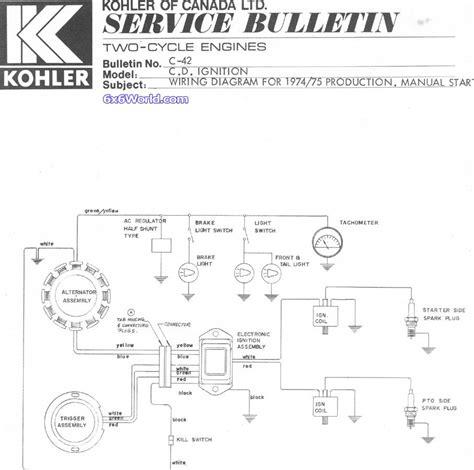 Kohler 10 Hp Wiring Diagram by 6x6 World Kohler Engine Owners Manuals