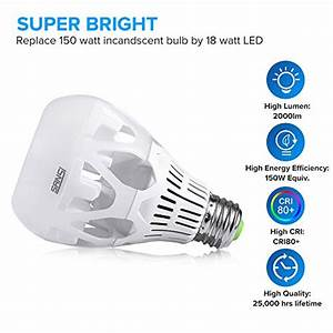 A21 Light Bulb Dimensions Sansi 18w 150 Watt Equivalent Led Light Bulbs A21 2000