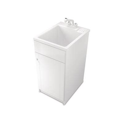 home depot laundry sink canada utilifit all in one utilifit narrow tub cabinet kit home