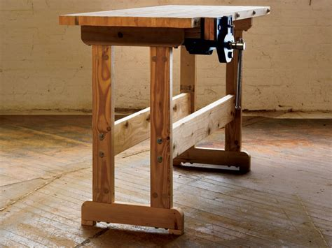 small woodworking bench customized  residence