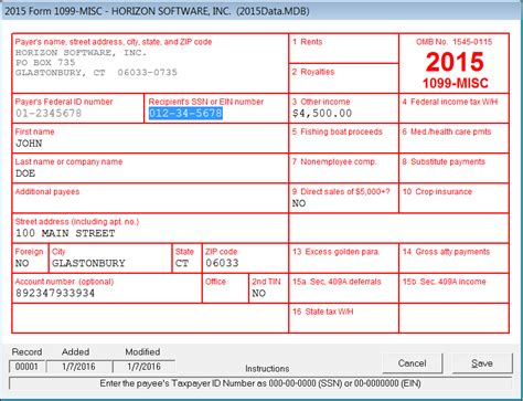 irs 1099 misc form 2015 instructions
