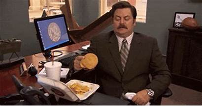 Lunch Desk Ron Swanson Eating Break Lunches