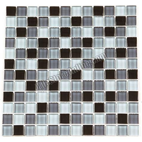 glass tile mosaic 1x1 glass tile mosaic ga1015 black