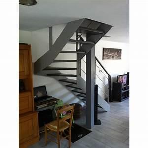 Escalier Quart Tournant Haut Droit : escalier quart tournant limon metal droit ~ Dailycaller-alerts.com Idées de Décoration