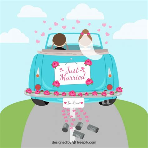 married car vector