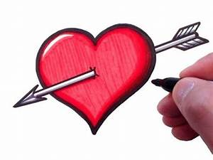 How to Draw a Heart with an Arrow - YouTube