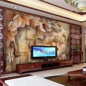 16 creative 3d living room wallpaper ideas that you should for Wallpaper designs for living room wall