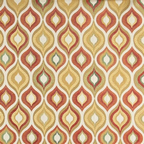 Bright Upholstery Fabric by Gold Green And Orange Bright Contemporary