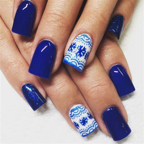 acrylic nail design ideas top 55 stunning blue acrylic nails