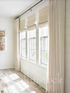 Brilliant Orange Curtains With Window Wall White Ceiling