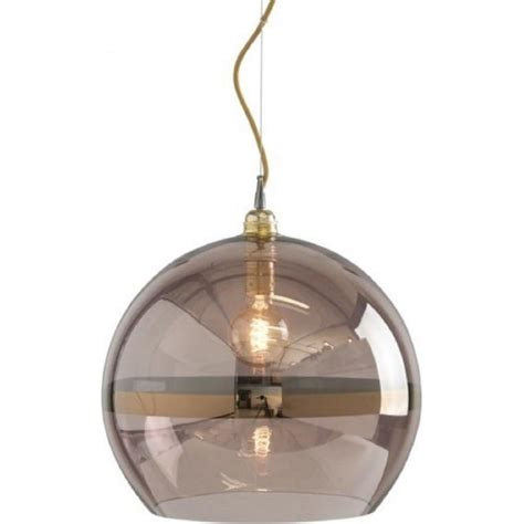 copper coloured glass globe ceiling pendant light on gold