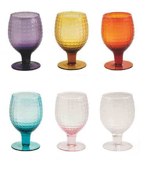 bicchieri vetro colorati calici vetro colorati karma villa d este set 6 pz
