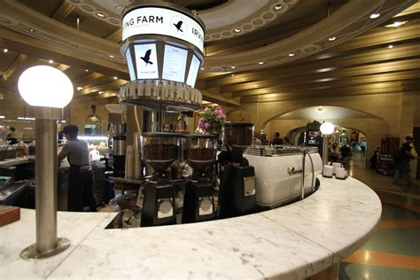 They have high tops in front and more lounge style chairs in the back. NYC: The Very Best Coffee At Grand Central Terminal