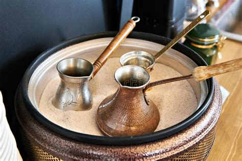 Preparation Of Turkish Coffee In Cezve In Sand Stock Photo Skinny Coffee How Many A Day Kentucky Tree Virginia Tech Latte Calories Furniture Instant Granules Plant Wallpaper Forum