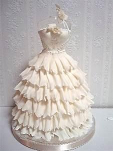 wedding dresses wedding gown shaped wedding cake With wedding dress cake