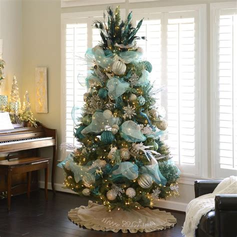 teal christmas tree decoration festival collections