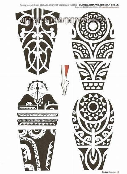 Maori Tattoo Polynesian Perna Desenhos Tribal Tattoos