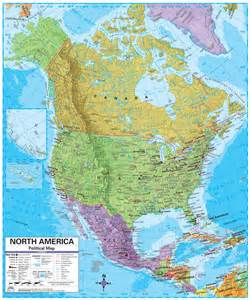 North America Map with Cities