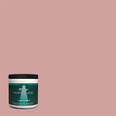 behr marquee 8 oz s150 3 rose pottery one coat hide interior exterior gloss enamel paint