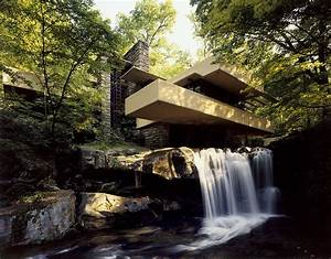 Large Fallingwater photos: Low angle near waterfall (Frank ...