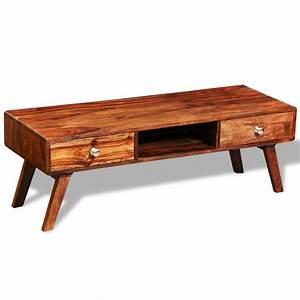 Meuble Tele En Bois : acheter meuble t l en bois de sheesham avec 2 tiroirs ~ Melissatoandfro.com Idées de Décoration