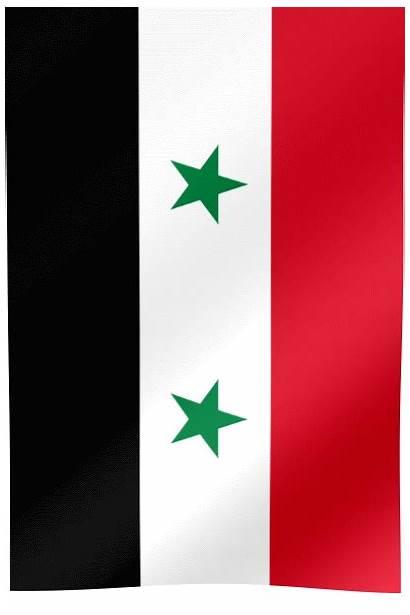 Flag Syria Waving Vertical Flags