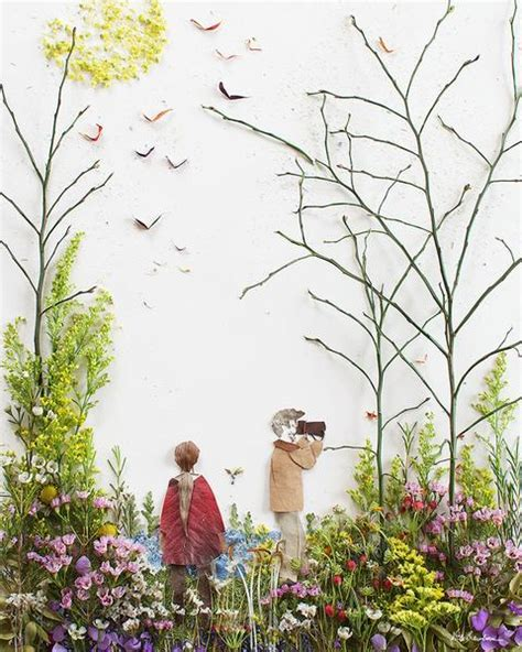 beautiful artworks out of twigs and flowers vicki