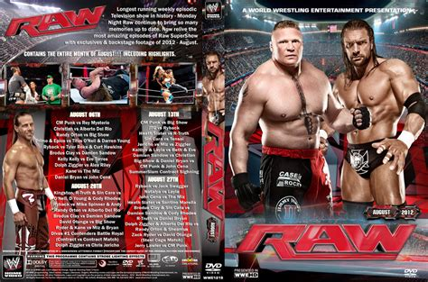 Wwe Raw August 2012 Dvd Cover By Chirantha On Deviantart