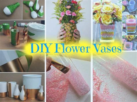 Diy Home Decor Projects And Ideas: 6 Beautiful DIY Vases To Decorate Your Home: Part 1