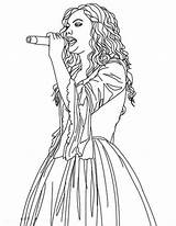 Sing Colorluna Bison sketch template