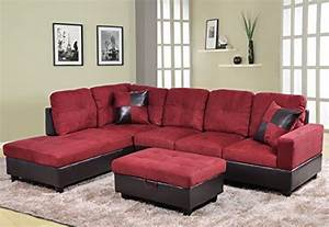 Price tracking for beverly furniture 3 piece microfiber for Microfiber faux leather 3 piece sectional sofa set