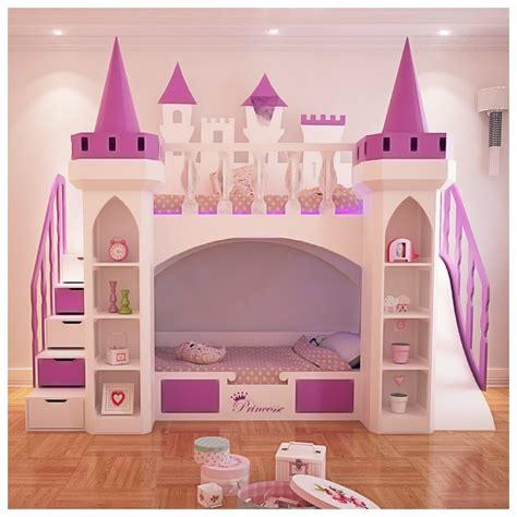 lit superpos chateau pour la chambre fille princesse lit rosny nestis