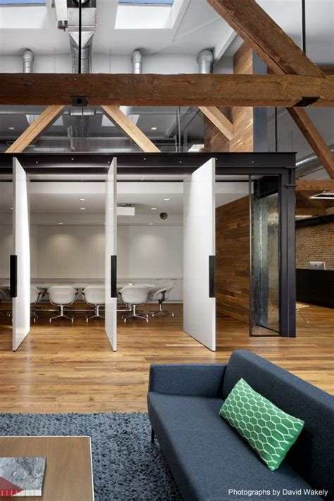 rustic conference room inside tollesons rustic san francisco warehouse offices