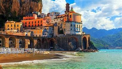 Italy Beach Coast Sea Architecture Building Arch