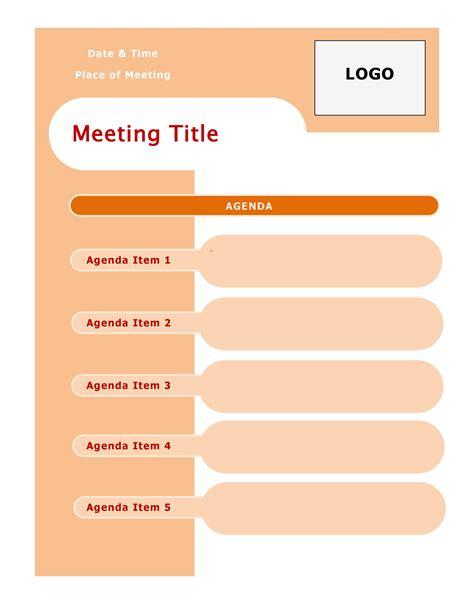 effective meeting agenda templates templatelab