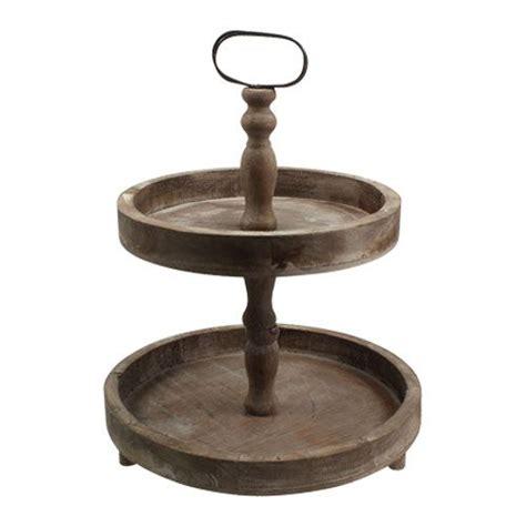 Etagere Aus Holz Braun Ø26cm Ø32cm H47 Preiswert Online Kaufen