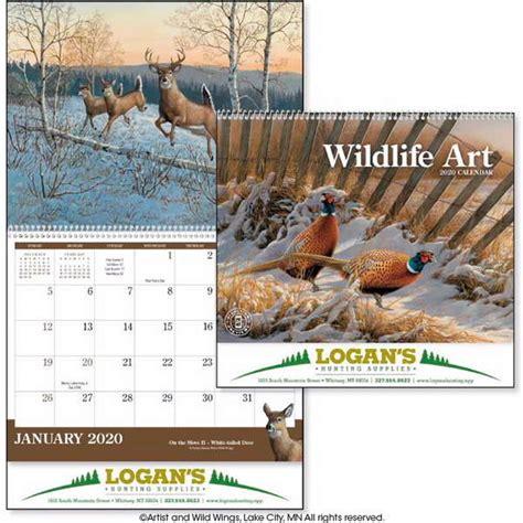 wildlife art calendar spiral bottom imprint customization