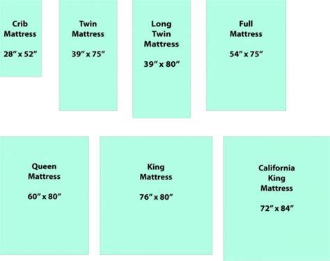 mattress size comparison mattress sizes and comparisons vs bed size