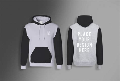 Since the main object is volume, you need to see it from different sides. Men's Hoodie (front & back) free PSD Mockup   Mockup+