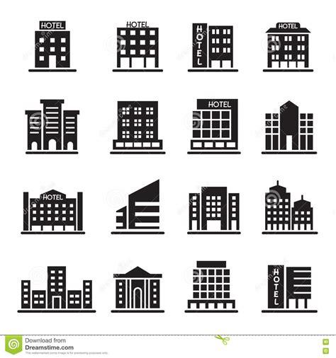 tour de bureau le bâtiment d 39 hôtel tour de bureau icônes de bâtiment a