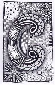 this is the third letter of the zebra letters tangle alphabet prints are sold unmounted and are