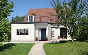 Agrandissement Maison : agrandissement extension de maison avec toit terrasse ~ Nature-et-papiers.com Idées de Décoration