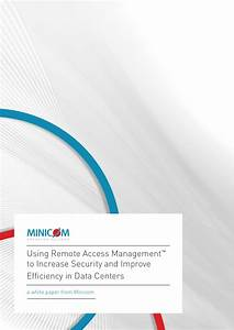 Minicom White Paper Using Ram To Increase Security And ...