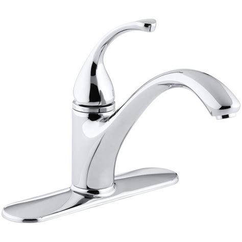 kohler forte single handle standard kitchen faucet  polished chrome   cp  home depot