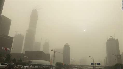sandstorm pushes beijing smog  pollution charts cnn