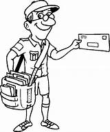 Postman Clipart Jolly Pages Colouring Clip Library sketch template