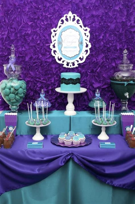Purple And Teal Baby Shower Decorations by 37 Best Purple And Aqua Baby Shower Images On