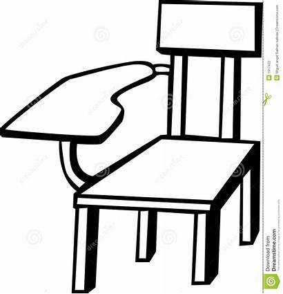 Chair Clipart Armchair Vector Desk Classroom Table